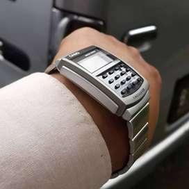 Jam tangan calculator Casio klasik original