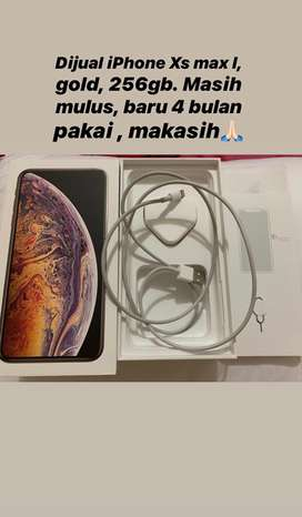 Iphone x max, gold, 256gb. Dual sim