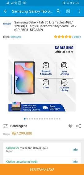 Jual Rugi Samsung Tab S6 Lite 128gb with Targus Keyboard case