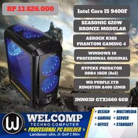 PC Komputer Gaming I5 9400F Ram 16Gb VGA 6GB HDD 2TB SSD 120Gb