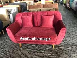 Sofa terbaru, model garis scandinavian