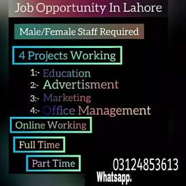 Staff in our compereny Male and female staff reguired