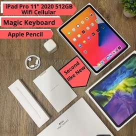 Ipad Pro 11 inch 2020 512gb wifi cellular second rasa baru