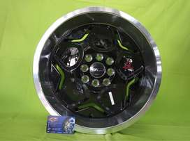 bursa velg racing hsr terbaru ring 16 myth04 black buat brio agya jazz