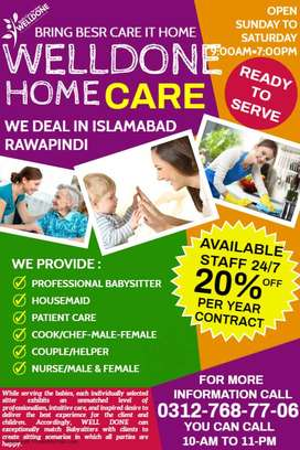 WELL DONE=Babysitter & Housemaid verified trust worthy available 24/7
