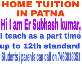Home tuition By Engineer Subhash Kumar, up to 12th.