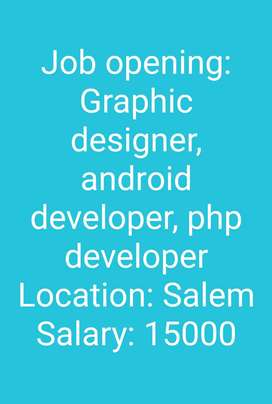 Graphic designer, android developer, php developer.