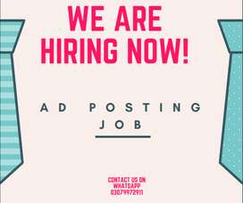 AD POSTING HOME BASED JOB