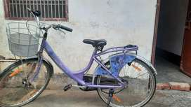 Hero Miss India Gold Single Speed 26 T Girls Cycle. Six months old