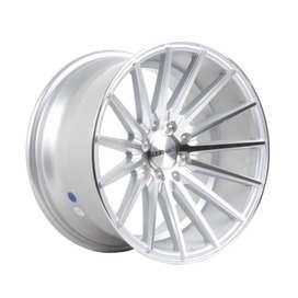 Velg HSR Tsukuba H560 R16X8-9 H8X100-114,3 ET35-30 Silver Machine Face