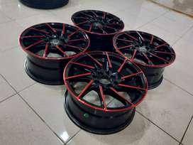 velg murah type velg brave ring15 pcd4x100-114,3 velg only