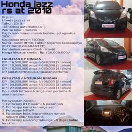 Honda jazz RS tahun2010 metic