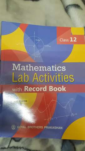 Maths lab activity manual and record book class 12th goyal publication