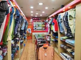Furnished AC Gentswear shop for rent