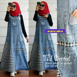 Gamis jeans (overall)