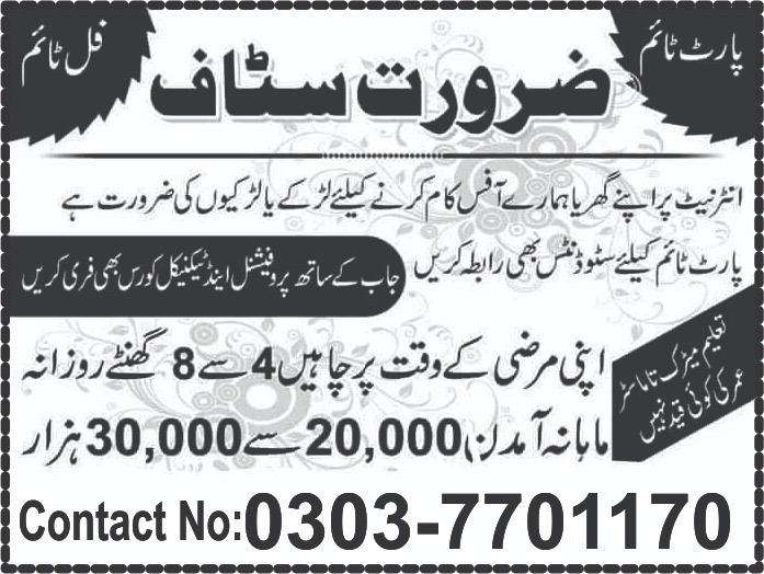 Staff required for Office Managment 0