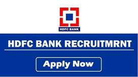 New Job Vacancy for Girls & Boys - HDFC Bank Credit Card Executive