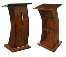 Podium gereja minimalis kayu jati