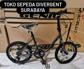 Sepeda 20 Minion Sakoni Supreme 7 Speed Cakram Mekanik Murah