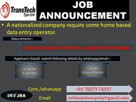 Just typing only (PDF to MS WORD). Higher income secure career.