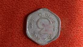 Coin very rare not found easily 3 paise..