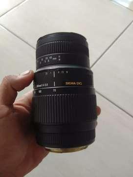 Lensa sigma DG 70-300MM for canon
