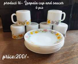 Selling out glass crockery