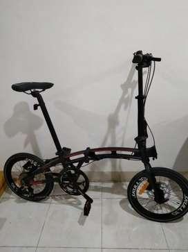 Sepeda Lipat 16 inch PACIFIC SKULL 3.0 Alloy 10 Speed Rem Hidrolik