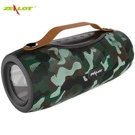 Zealot Portable Bluetooth Speaker with Powerbank + Senter LED