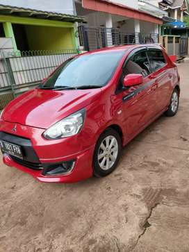 Mirage gls sporty matic 2014 2015 merahh merona