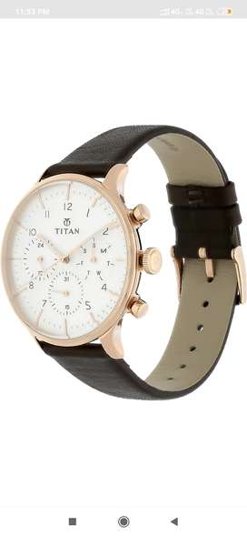Titan Watch  for men lather