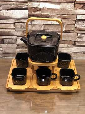 Coffee set  With bamboo stand