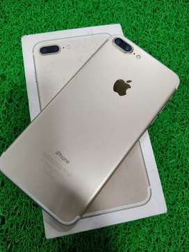 Appl iph 7 plus 32gb gold excellent condition with bill box charger