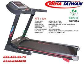 Miha Taiwan MT 330 – Treadmill Heavy Duty – 3.0 HP – Black