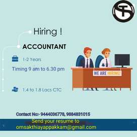 Need Accountant and Assistant Accountant