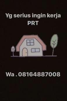 Dibutuhkan segera Pembantu Rumah Tangga/Asisten Rumah Tangga (PRT/ART