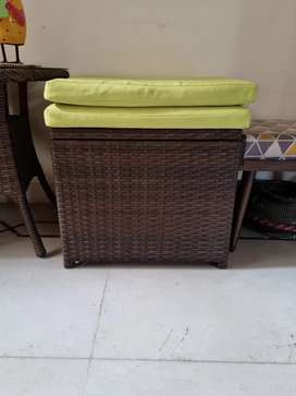 Patio Chair with storage 2 pcs