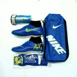 Sepatu Futsal anak nike mercurial Biru