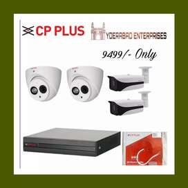 CP plus or Hikvision Cctv Cameras 3.6mm lens Full Hd Clarity