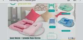 Kasur Bayi Dakron Kelambu Chevron Pink Omiland OBK5023