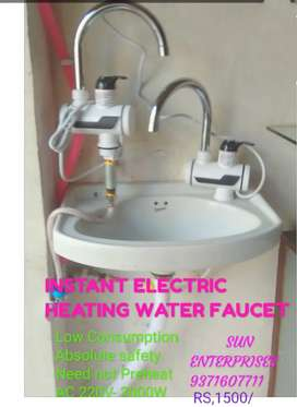 Instant water heater tap.