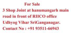 3 shop joint at RIICO Sriganganagar