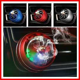 Led Light Car Air Conditioner Outlet Vent Fragrance Fan Style Spray