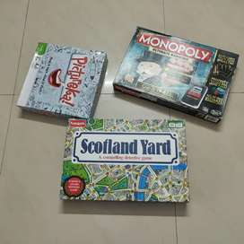 Monopoly ultimate Banking Game, Pictureka! And Scotland yard combo