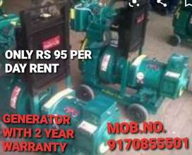 LOW FUEL CONSUMPTION N 2 YEAR WARRANTY GENERATORS WITH LOW MAINTENANCE