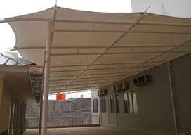 Kami bengkel las nerimah pembuatan kanopi atap membarane $$1170