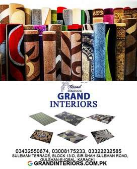 Carpets along with installation and delivery by Grand interiors