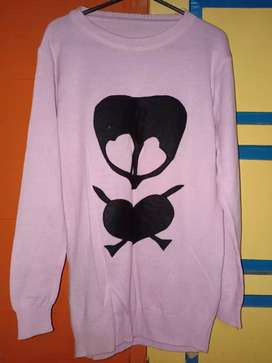 Sweter Rajut dusty pink