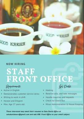 Staff Front Office Good Karma and Happy Buddha Hostels