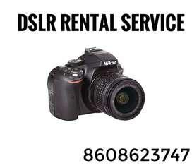 DSLR camera rental services